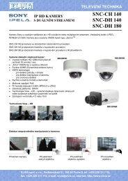 ip hd kamery s duálním streamem snc-ch 140 snc-dh ... - Elvia CCTV