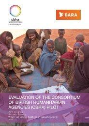 evaluation of the consortium of british humanitarian agencies - DARA