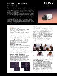 SSC-G813/SSC-G818 - Elvia CCTV