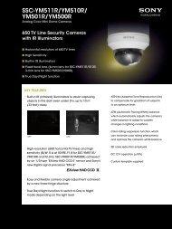 SSC-YM511R/YM510R/ YM501R/YM500R - Elvia CCTV