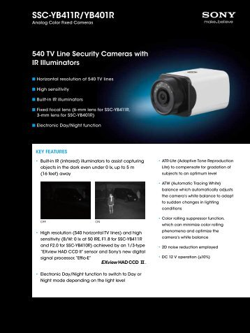SSC-YB411R/YB401R - Elvia CCTV