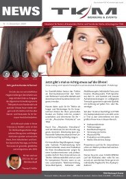 aktuellen Newsletter auch zum Download - TKM Werbung & Events