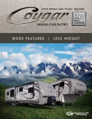 more FEATURES | less WEIGHT - Pete's RV Center