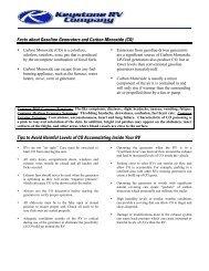 Facts about Gasoline Generators and Carbon Monoxide (CO) Tips ...