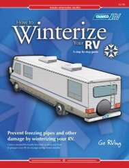 Prevent freezing pipes and other damage by winterizing your RV.