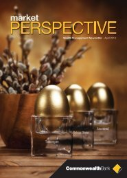 Market Perspective April 2013 - Commonwealth Bank