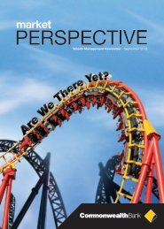 Market Perspective September 2013 - Commonwealth Bank
