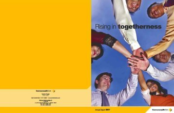 Annual Report 2007 - Commonwealth Bank