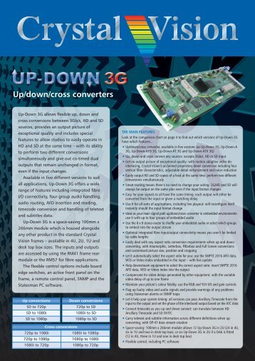 Crystal Vision: Up-Down 3G brochure