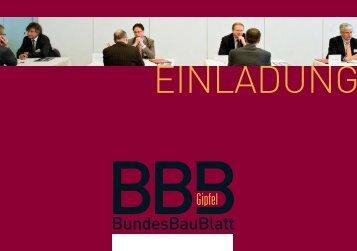 Bundesbaublatt Gipfel Einladung ( 3 5 MB ) - Bauverlag