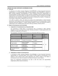REPORT FOR GOOD CORPORATE GOVERNANCE IN 2009 A ...