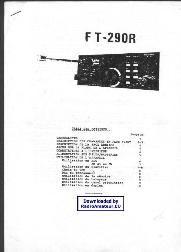 Ft 900 users Manual