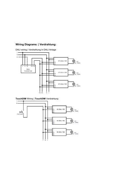 on dali ballast wiring diagram