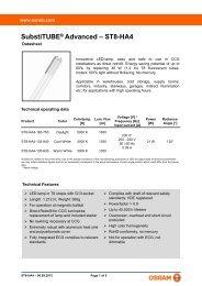 SubstiTUBE® Advanced – ST8-HA4 - Osram
