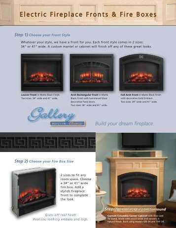 Gallery Electric Built-in Fireplace Fronts and Boxes - Outdoor ...