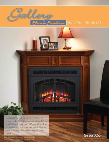 GreatCo. Electric Fireplace Brochure - Outdoor GreatRoom Co.