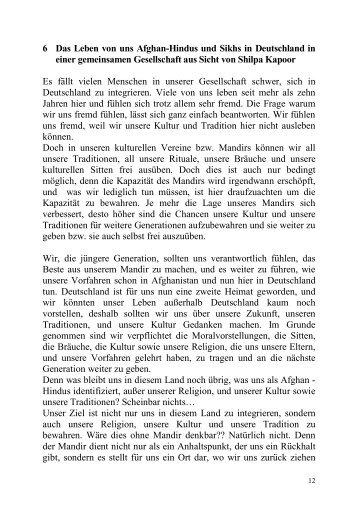 6 Das Leben von uns Afghan-Hindus und Sikhs in Deutschland in ...