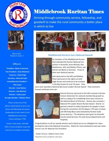 Ruritan Times March 2011 - Middlebrook Virginia Community ...