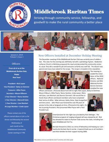 Ruritan Times January 2010 - Middlebrook Virginia Community ...