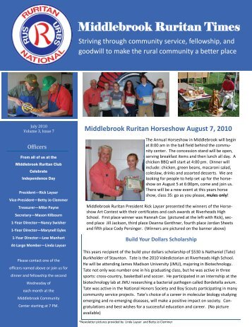 Ruritan Times July 2010 - Middlebrook Virginia Community Bulletin ...
