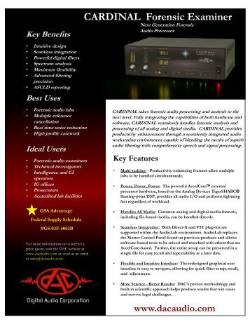 CARDINAL Forensic Examiner - Digital Audio Corporation