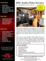 DAC Audio/Video Services - Digital Audio Corporation