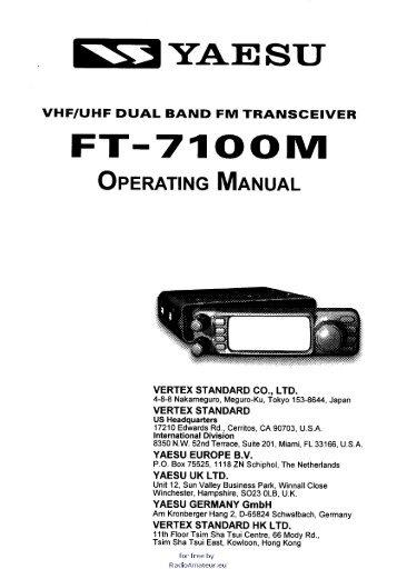 yaesu service manuals