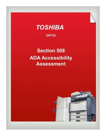21.4 Section 508 Compliance_Toshiba V3 - Toshibamedia.com ...