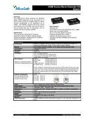 HDMI Econo Mono Extender Kit 500451 - Ram Electronic Industries
