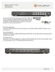 atlona.com - Ram Electronic Industries