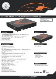 Atlona HDMI to 3G/HD/SD-SDI Converter - Ram Electronic Industries