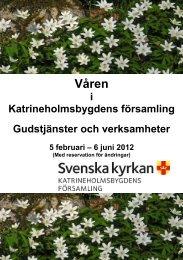 Våren - Katrineholmsbygdens församling
