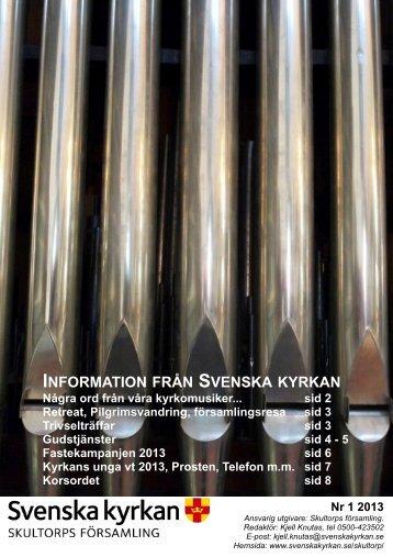 Infoblad 1 2013 A4 2 - Skultorps församling