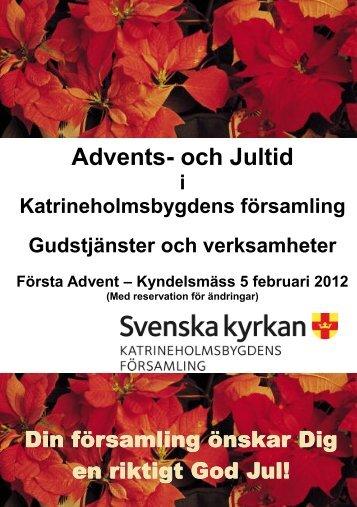 Advents- och Jultid - Katrineholmsbygdens församling