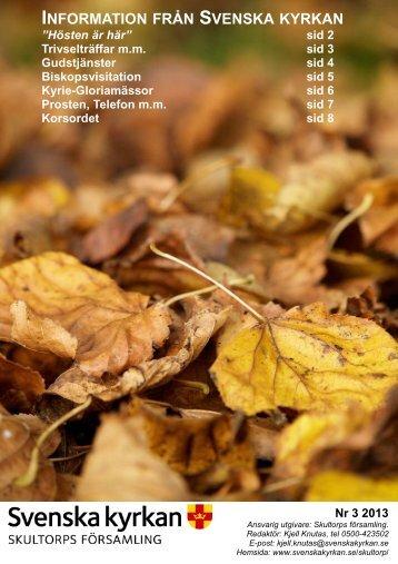 Infoblad 3 2013 A4 2 - Skultorps församling