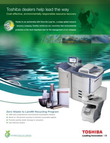 to download the Close the Loop brochure - Toshiba