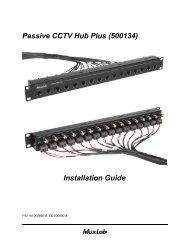 Passive CCTV Hub Plus (500134) Installation Guide - Muxlab
