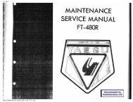 Yaesu - FT-480R service manual