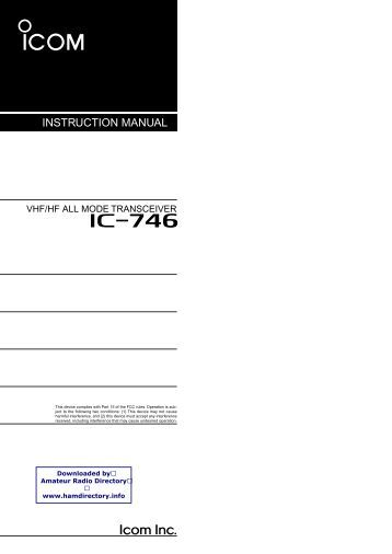 Icom ic 746 service Manual