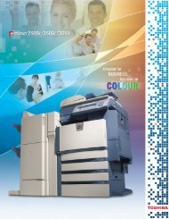 2500c_3500c_3510c Brochure.qxd - Toshiba Business Solutions