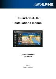 INE-W970BT-TR Installations manual - Alpine