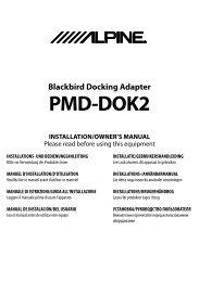 Blackbird Docking Adapter PMD-DOK2 - Alpine