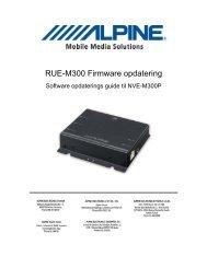 RUE-M300 Firmware opdatering - Alpine