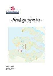 Onderzoek naar zware metalen in luchtfilters - Provincie Zeeland