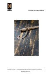 Tarif Professionnel édition 7 - Visualis