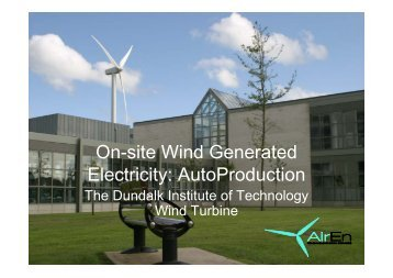 On-site Wind Generated Electricity: AutoProduction