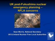 UK post-Fukushima nuclear emergency planning – NFLA concerns