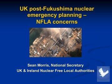 UK post-Fukushima nuclear emergency planning – NFLA concerns