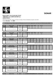Preisliste SONAR 2-2004