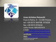 Graphic Design - Liceo Artistico Pistoia Policarpo Petrocchi